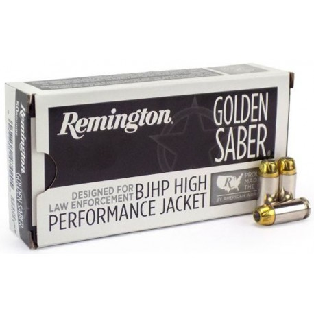 Munición Remington - Golden Saber HPJ Bonded - 9mm.+P BJHP - 124 grains - 29351