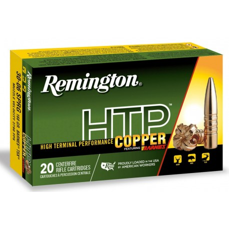 Munición metálica REMINGTON HTP Copper - 30-06 - 168 grains - 27707