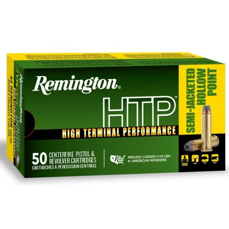 Munición metálica REMINGTON HTP - 44 Rem. Mag. - 240 grains - 22325