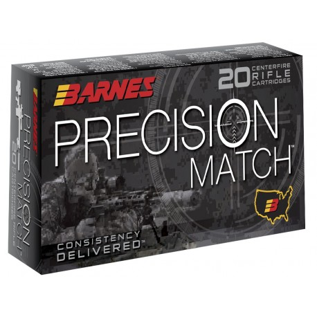 Munición metálica BARNES PRECISION MATCH - 6.5 Creedmoor - 140 grains - 30166