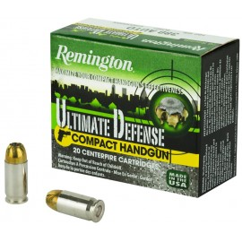 Munición Remington Ultimate Defense Compact - BJHP 9mm. corto - 102 grains