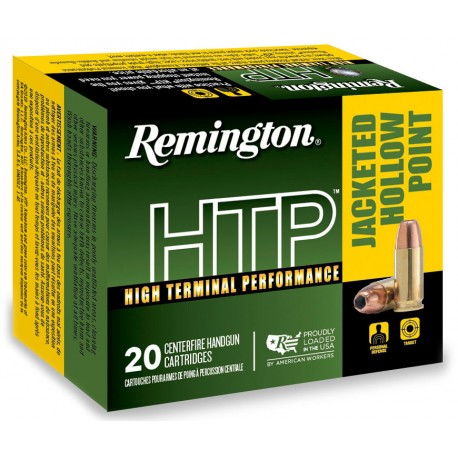 Munición metálica REMINGTON HTP - 9mm. corto - 88 grains - 22248