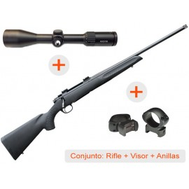 Rifle de cerrojo THOMPSON Compass + Visor AVISTAR 2,5-10x50 R.I. + Anillas WEAVER Grand Slam