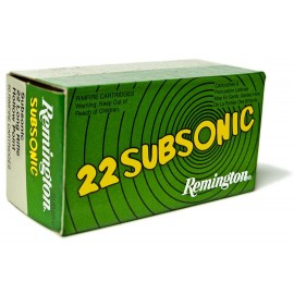 Munición REMINGTON .22 LR Subsonic - 39 grains