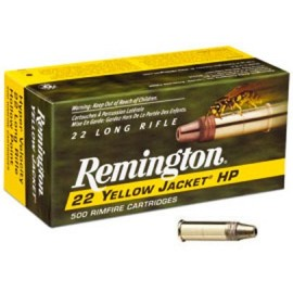 Munición REMINGTON .22 LR Yellow Jacket Hiper Velocidad