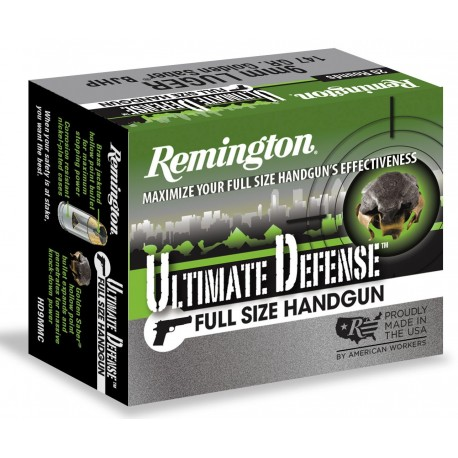 Munición Remington Ultimate Defense - BJHP 9mm.
