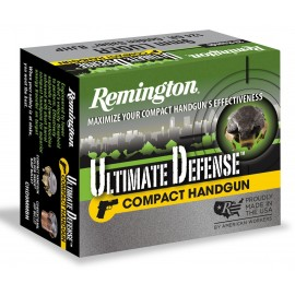 Munición Remington Ultimate Defense Compact - BJHP 9mm. - 124 grains