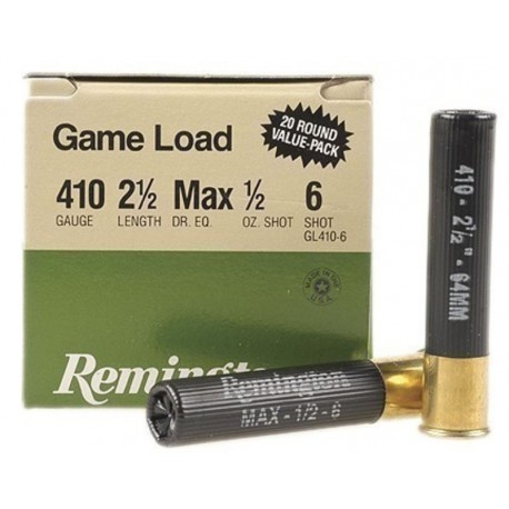 Cartuchos de caza .410/67 REMINGTON EXPRESS Game Load 14gr. P-6