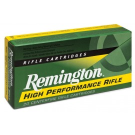 Munición metálica REMINGTON HIGH PERFORMANCE RIFLE - 22-250 - 55 grains