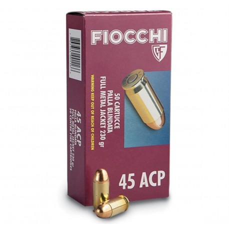 Munición FIOCCHI - 45 ACP - 230 grains - blindada