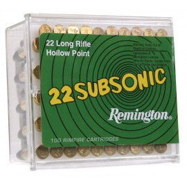 Munición REMINGTON .22 LR Subsonic - 38 grains