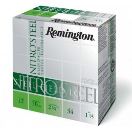 Cartuchos de caza 12/70 REMINGTON Nitro-Steel 34gr. P-3