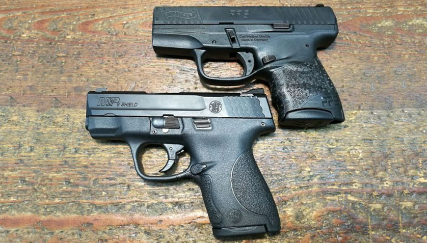 Walther PPS M2 y Smith & Wesson M&P Shield. Análisis de pistolas subcompactas monohilera.