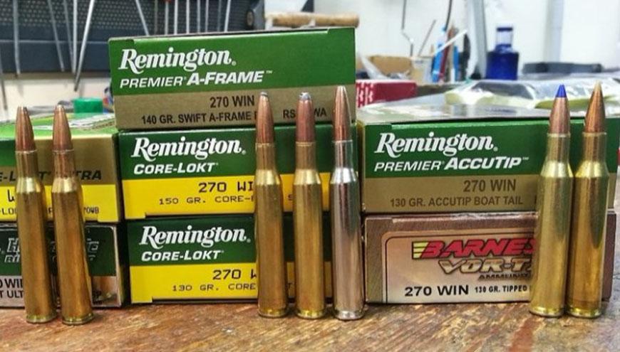 Análisis munición .270 Winchester