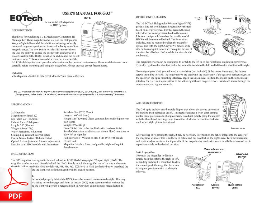 EOTech G33