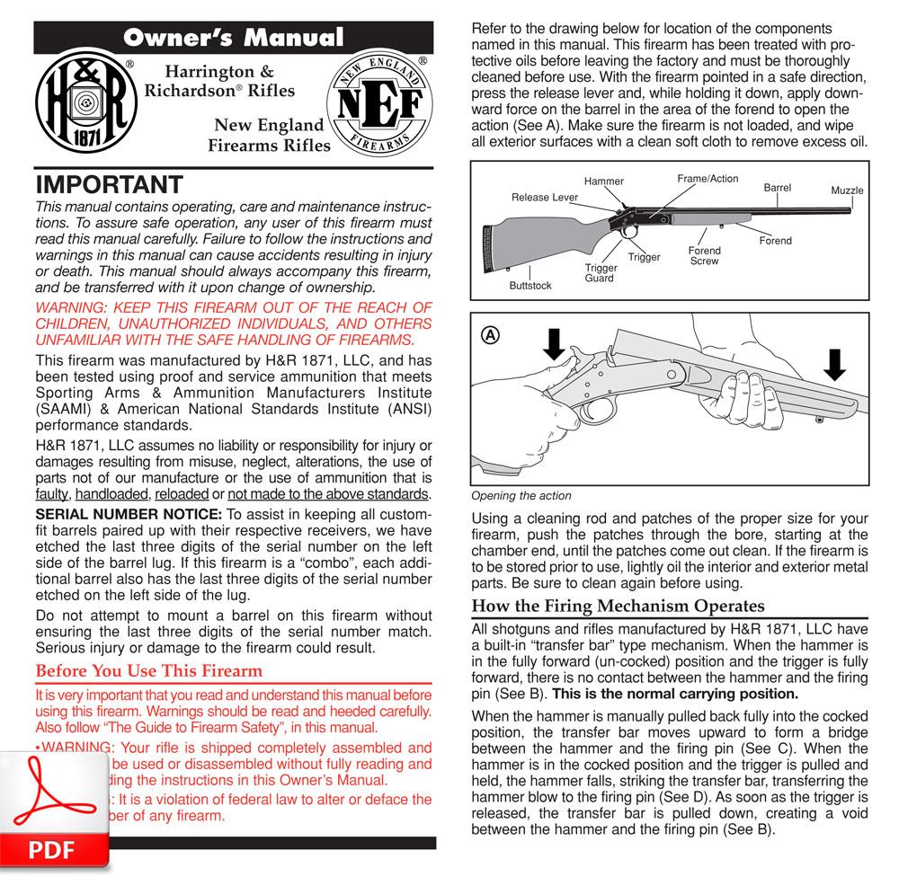 Manuales de uso H&R 1871