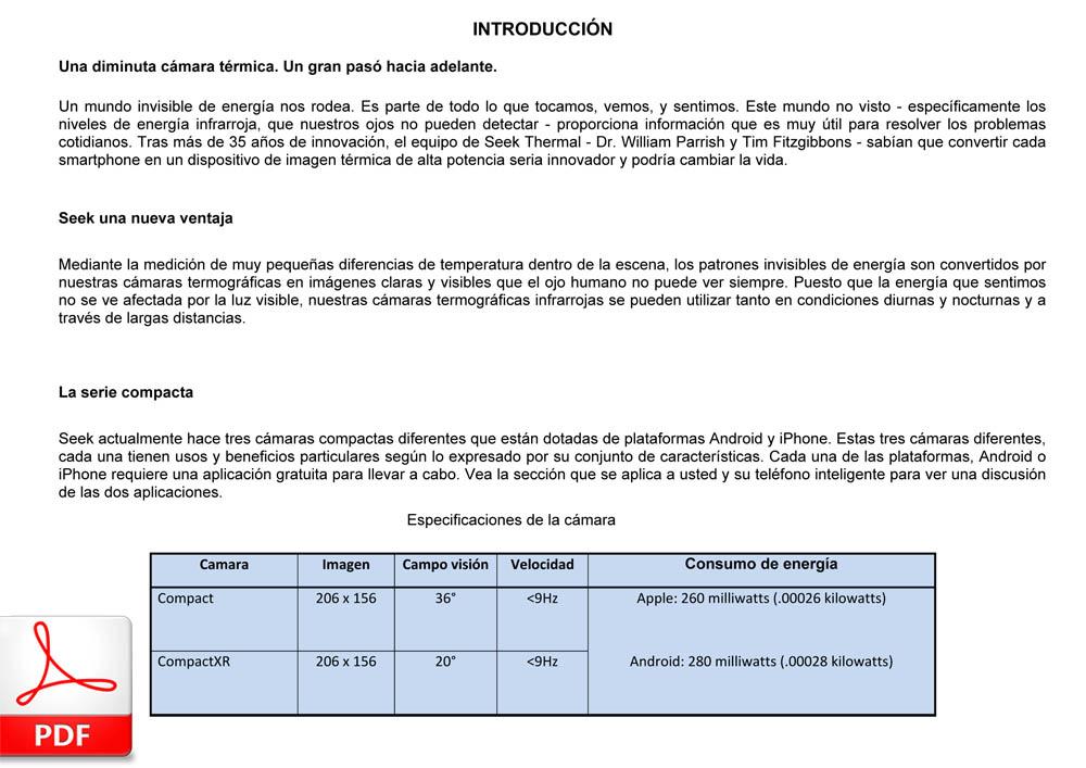 SEEK THERMAL Compact (español)