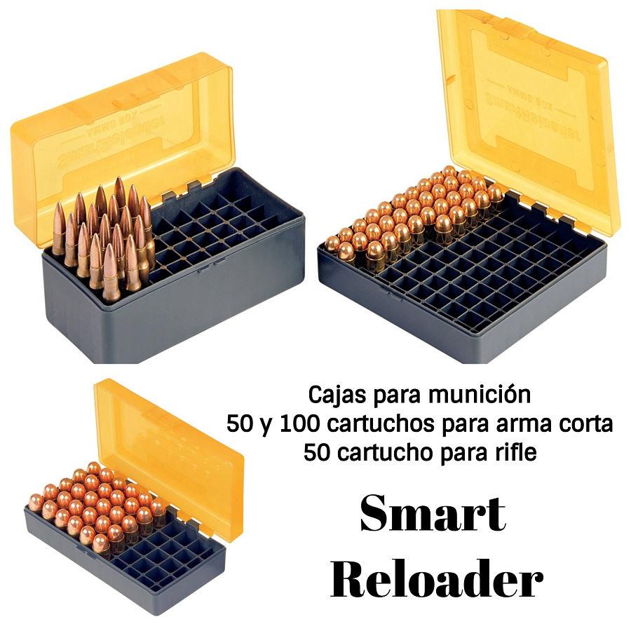 SmartReloader cajas de munición para pistola y rifle