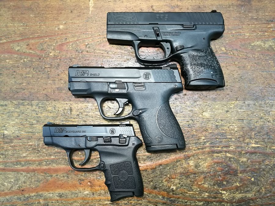 Comparativa Walther PPS M2, S&W M&P Shield y S&W Bodyguard