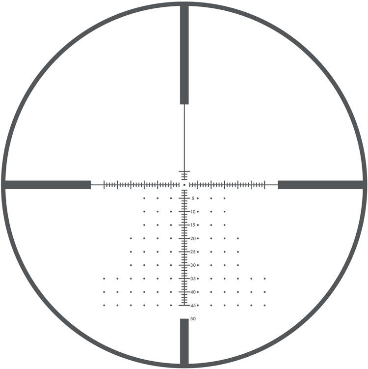 Retícula Deploy MOA FFP en primer plano focal.