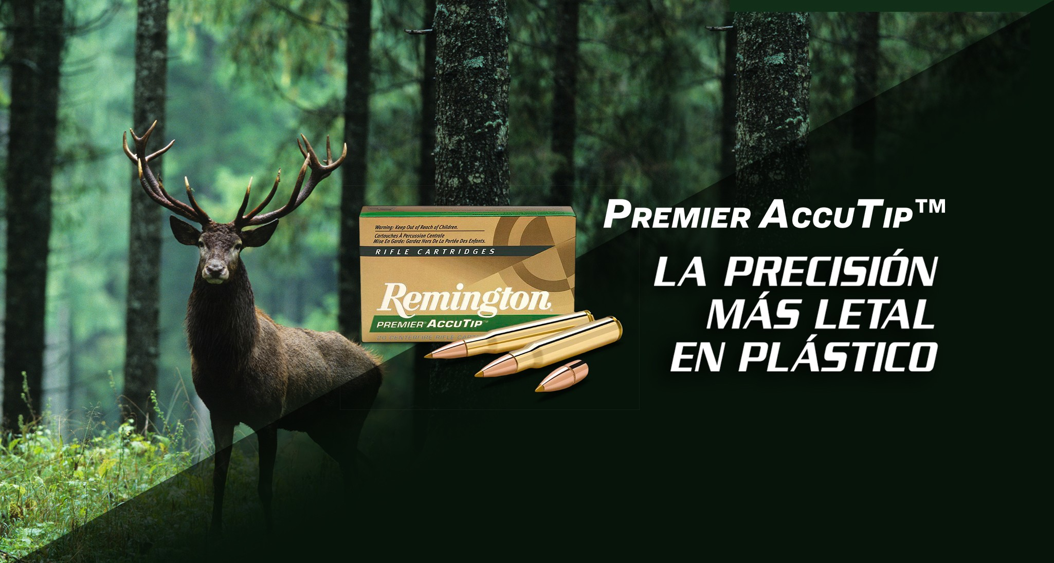 Munición metálica REMINGTON PREMIER ACCUTIP